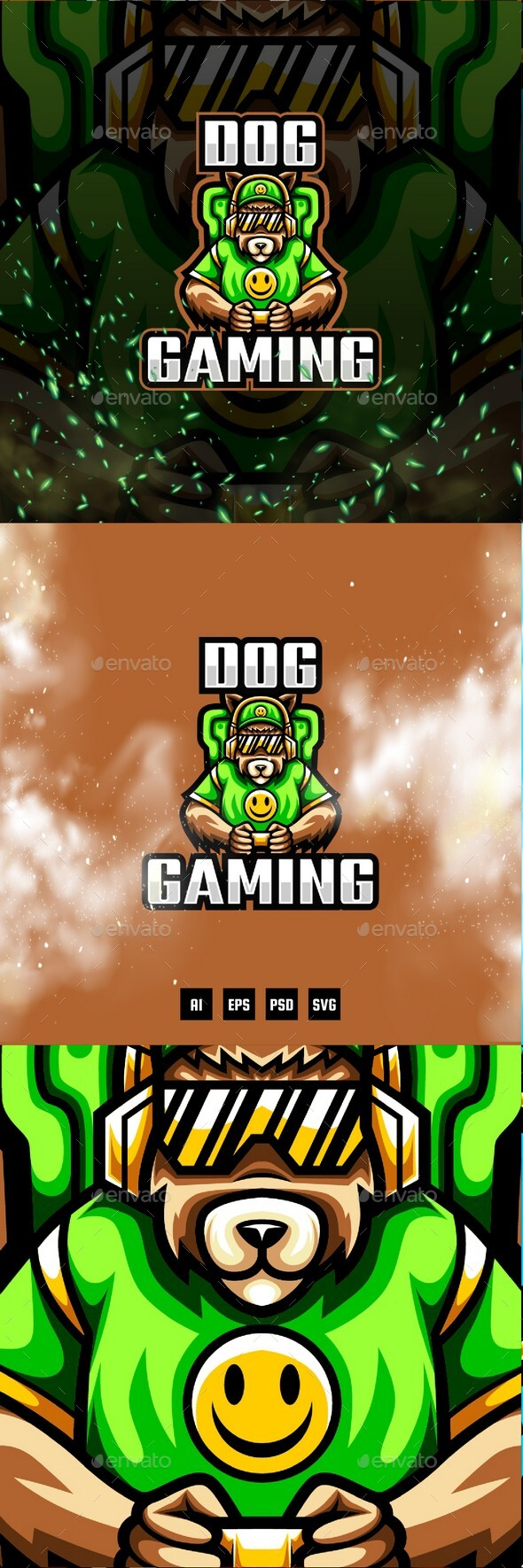Dog Gaming E-Sport and Sport Logo Template