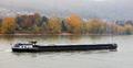 Loaded barge navigating river Rhine Germany - PhotoDune Item for Sale