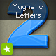 Plastic magnetic abc letters and numbers - GraphicRiver Item for Sale