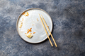 Empty dirty dish after korean kimchi with chopstick - PhotoDune Item for Sale
