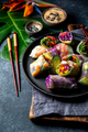 Delicious vietnamese spring roll with vegetable and shrimps - PhotoDune Item for Sale