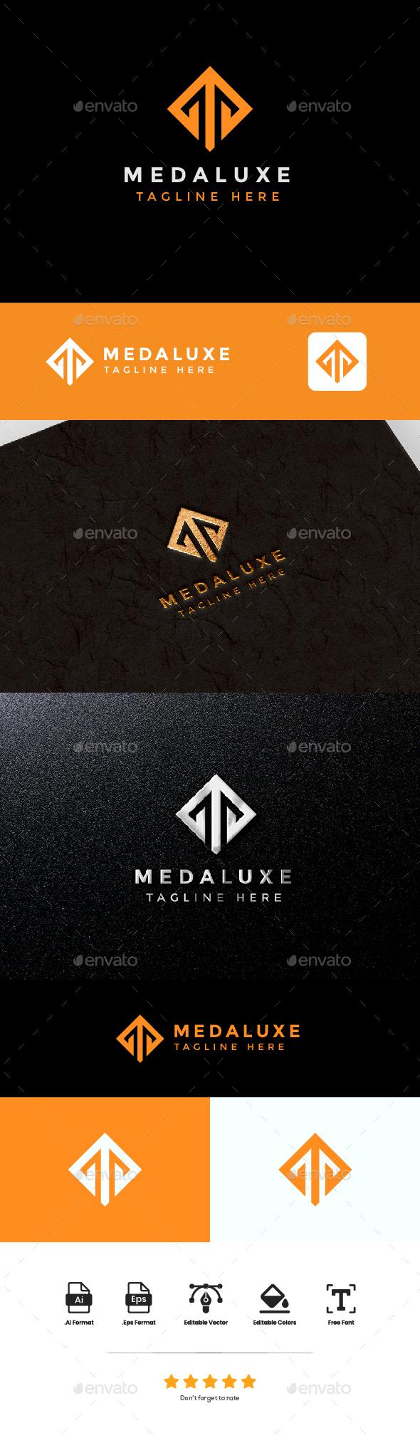 logo Letter M - Medaluxe
