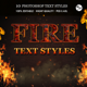 Fire Text Styles - GraphicRiver Item for Sale