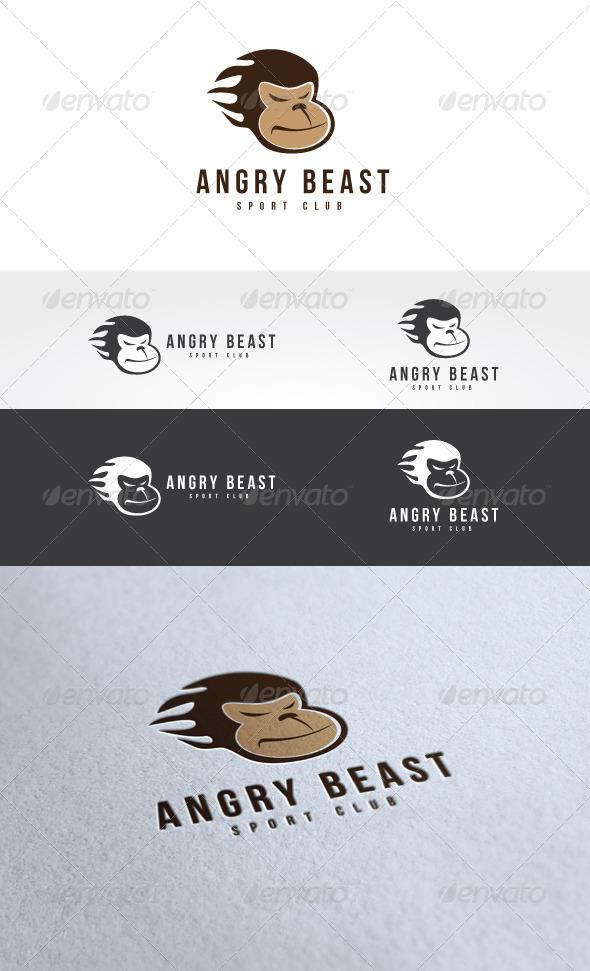 Angry Beast Logo Template
