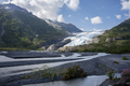 Exit Glacier and mountains near Seward Alaska on a sunny afternoon - PhotoDune Item for Sale