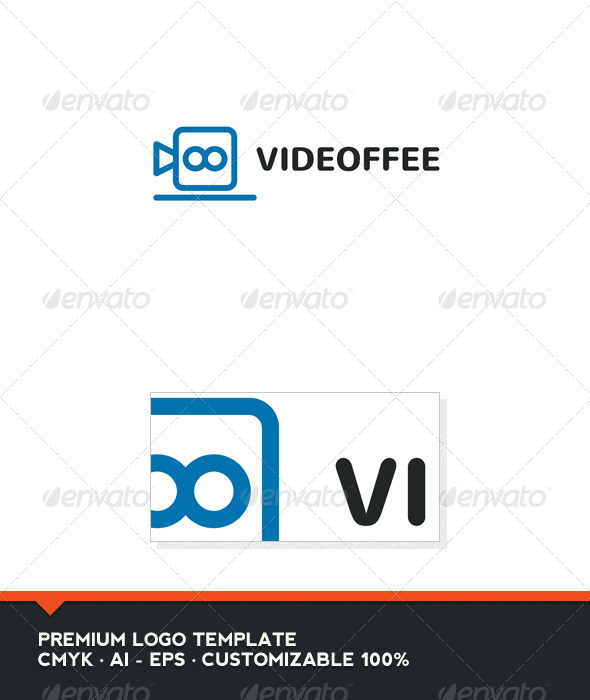Videoffe - Coffee and Video Logo Template