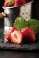 Fresh strawberries on dark background - PhotoDune Item for Sale