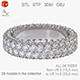 Ring with diamonds 3D print model - 3DOcean Item for Sale