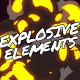 Explosive Elements // Mogrt - VideoHive Item for Sale