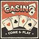 Retro Vintage Casino Poster - GraphicRiver Item for Sale