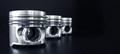 Pistons on black. - PhotoDune Item for Sale