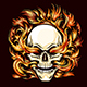 Skull Burning in Hell Fire Tattoo - GraphicRiver Item for Sale
