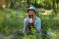 Woman in the Forest Drinking Tea - PhotoDune Item for Sale