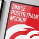 Simple Poster Frame Mockup - GraphicRiver Item for Sale
