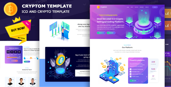 Cryptom - ICO and Crypto Template