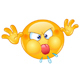 Angry Emoticon with Tongue out - GraphicRiver Item for Sale