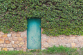 Green vintage door on the old wall - PhotoDune Item for Sale
