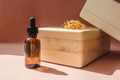 Blank amber glass bottle with face serum. - PhotoDune Item for Sale