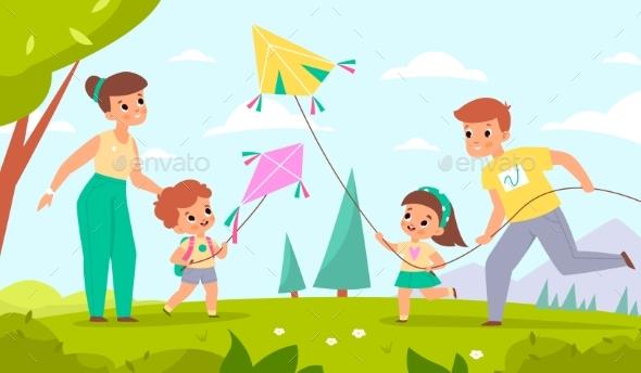 Family Fly Kites