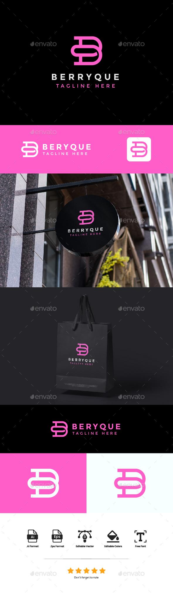 logo Letter B - Berryque