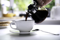 Pouring steaming coffee - PhotoDune Item for Sale