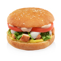 Chicken burger isolated on white background. - PhotoDune Item for Sale