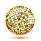 Golden Disco Ball - GraphicRiver Item for Sale