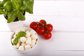 Mozzarella cheese, tomatoes cherry and basil - PhotoDune Item for Sale