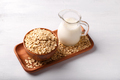 Non dairy oat milk and flakes - PhotoDune Item for Sale