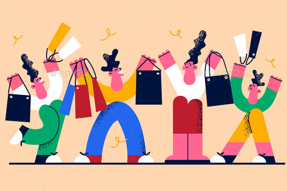 Shopping and Sales in Shop Concept
