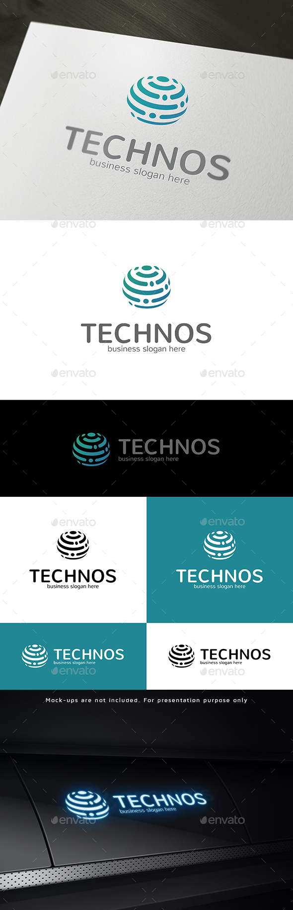 Technology Logo Tech Abstract Sphere Symbol