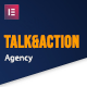 Talk & Action - Colorful Digital Agency Elementor Template Kit - ThemeForest Item for Sale