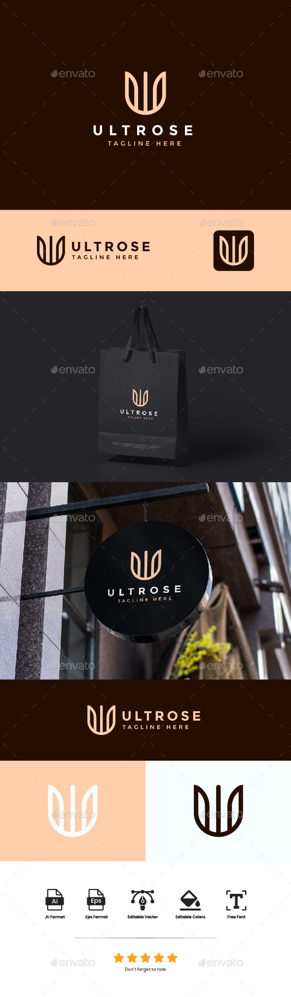 Logo Letter U - Ultrose