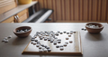 Chinese chess go board during game at home, igo go stones, digital detox, happy family moments - PhotoDune Item for Sale