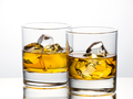 Whisky on the rocks on white background - PhotoDune Item for Sale