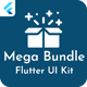 Mega Bundle Flutter UI Kit | All in one | 6 Premium Apps (Add 1 App Every Month) - CodeCanyon Item for Sale