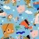Samless Pattern with Cartoon Animals Celebrating - GraphicRiver Item for Sale