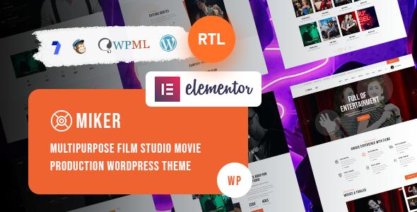 Miker - Movie and Film Studio WordPress Theme