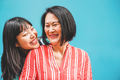 Asian mother and daughter having fun outdoor - Happy family people enjoying time togehter - PhotoDune Item for Sale