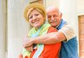 Happy senior couple in love enjoying romantic vacation in Italy - PhotoDune Item for Sale