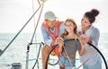 Happy family doing luxury sailboat trip - PhotoDune Item for Sale