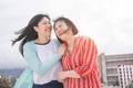 Asian mother and daughter having fun outdoor - PhotoDune Item for Sale