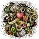 Cartoon Vector Doodles Diet Food Illustration - GraphicRiver Item for Sale