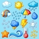 Set of Cute Kawaii Weather Items - GraphicRiver Item for Sale