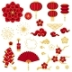 Happy Chinese New Year Set of Decorative Objects - GraphicRiver Item for Sale