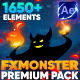 FX MONSTER - Premium Pack [1650+ 2D FX Elements] - VideoHive Item for Sale