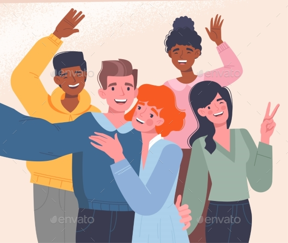 Diverse Multiracial Happy Men Women