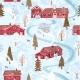 Seamless Pattern Winter Landskape - GraphicRiver Item for Sale