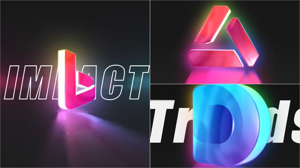 3D Color Logo Intro
