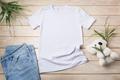 Kids T-shirt mockup with white koala bear toy - PhotoDune Item for Sale